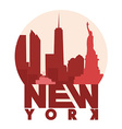 New York icon vector image