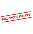 No Potency Watermark Stamp vector image