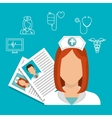 nurse services medical isolated vector image vector image