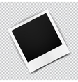 Old empty realistic photo frame with transparent vector image vector image