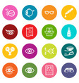 ophthalmologist icons set colorful circles vector image vector image