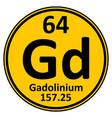 periodic table element gadolinium icon vector image vector image