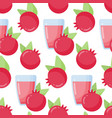 pomegranate juice seamless pattern vector image vector image