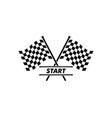 racing flag icon automotif vector image