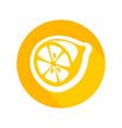 round icon fresh lemon vector image vector image
