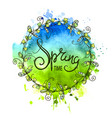 round spring background banner vector image
