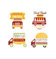set of logo templates for food truck festival vector image vector image