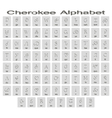 Set of monochrome icons with cherokee alphabet vector image vector image