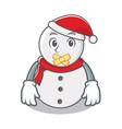 silent snowman character cartoon style vector image