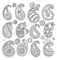 simple paisley pattern traditional eastern vector image
