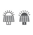 solar panel line and glyph icon ecology and power vector image vector image