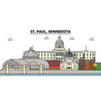 st paul minnesota city skyline architecture vector image vector image