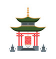 traditional japan gate religious architectural vector image