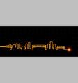 vancouver light streak skyline vector image