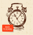 Vintage hand drawn back to school background vector image vector image
