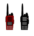 Walkie talkie or police radio and radio communicat vector image vector image