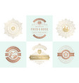 wedding invitations save date logos and badges vector image vector image