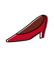 wedding red shoe woman elegance style vector image vector image