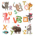 zoo alphabet for children vector image
