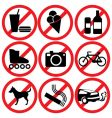 prohibited vector image