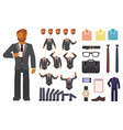 businessman character creation vector image