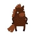 Cute cartoon horse farm animal mammal character vector image