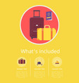 whats included in hotel service info internet page vector image