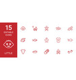 15 little icons vector image vector image