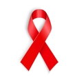 AIDS awareness red ribbon on white background vector image