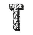 alphabet letter t vintage monochrome concept