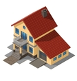 American Cottage Small Wooden House vector image vector image