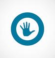 arm bold blue border circle icon vector image vector image