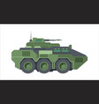 armored fighting vehicle camouflage green wheeled vector image vector image