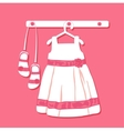 Baby dress vector image vector image