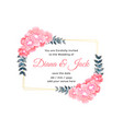 beautiful flower decorative wedding card design vector image vector image