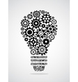 black gear light bulb vector image vector image