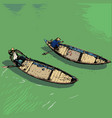 boats on river vietnam color vector image