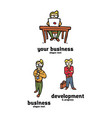 businessman logo set vector image
