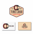 car tires badge logo track graphic vector image vector image