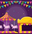 carousel of amusement park vector image