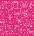 charity seamless pattern with flat line vector image vector image