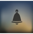christmas bell icon on blurred background vector image vector image