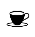 coffee cup on white background vector image vector image