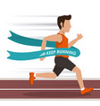 colorful background with man athlete running in vector image