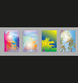 colorful summer banners tropical backgrounds set vector image vector image