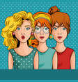 comic like woman icon vector image