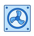 computer fan line icon vector image vector image