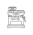 concept of coffee machine vector image vector image