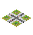 crossroads city street vector image