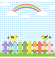 Cute birds and rainbow vector | Price: 1 Credit (USD $1)